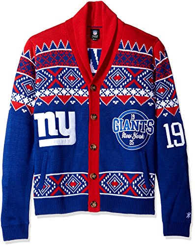 NFL New York Giants Ugly Cardigan Sweater