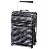 IT World's Lightest Sub-0-G Ultra Lightweight Luggage Single Large Case in Black & White Polka Print