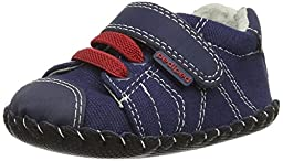 pediped Jake Originals Sneaker (Infant/Toddler),Navy/Red,Medium (12-18 Months)