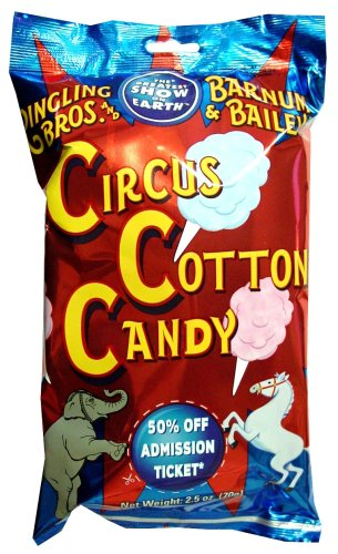 Ringling Bros. and Barnum & Bailey Circus Cotton Candy, 2.5-Ounce Bags (Pack of 24)