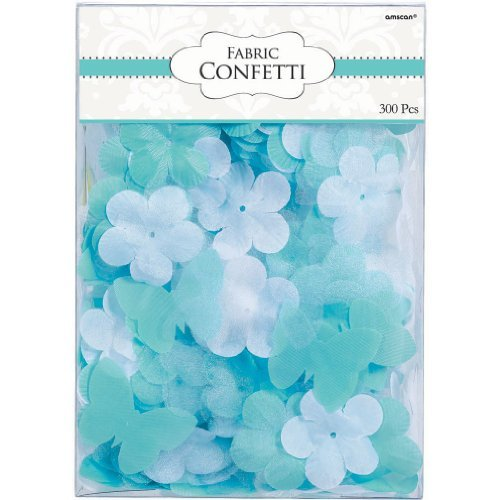 Amscan Sweet Flowers & Butterflies Party Confetti Value Pack, 1.2 oz, Robin's-Egg Blue/Green
