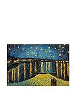 Arte Dal Mondo Pintura al Óleo sobre Lienzo Van Gogh Notte Stellata Sulla Rhona