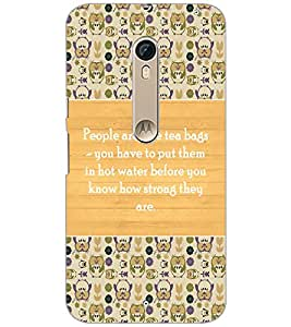 Printdhaba Quote D-3690 Back Case Cover For Motorola Moto X Pure Edition