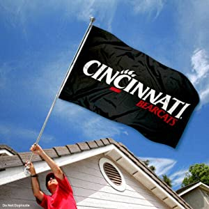 Buy Cincinnati Bearcats Black 3x5 Flag by College Flags and Banners Co.