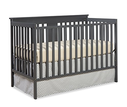 Best Buy! Stork Craft Mission Ridge Fixed Side Convertible Crib, Gray