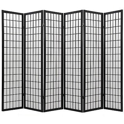 Sale!! Coaster Oriental Style 4-panel Room Screen Divider, Black Framed (Black, 6 Panel)