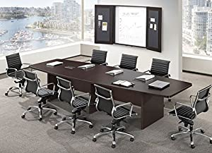 Ndi Office Furniture Pl8b Boat Shape Conference Table W Slab Base 8 39 L Office