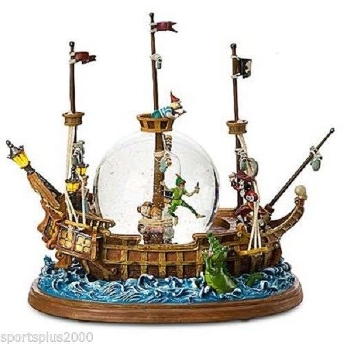 Peter Pan Pirate Ship ~ Disney Musical Motion & Lighted Snow Globe ~ Brand New in Original Box ~ in Mint Condition! (Peter Pan Musical Snow Globe compare prices)