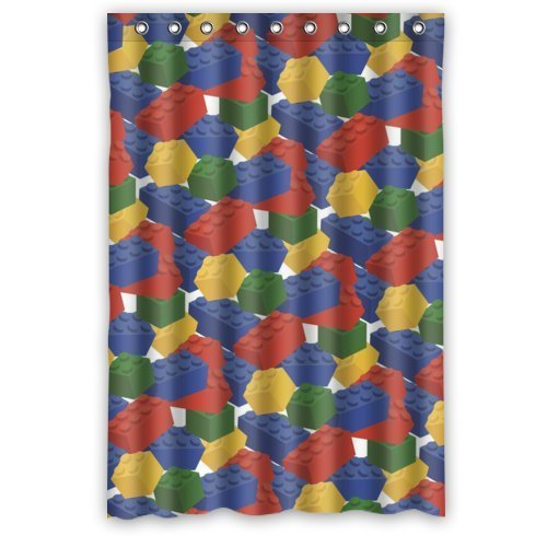 DavidHot Waterproof Bathroom personalized Lego Blocks Shower Curtain (Ababy Personalized Shower Curtain compare prices)