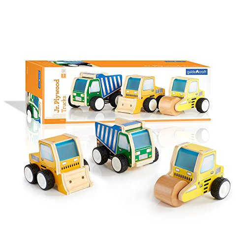 Guidecraft Jr Plywood Construction Trucks G7522