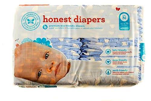 The Honest Company Diapers (Newborn, Mustache Print)