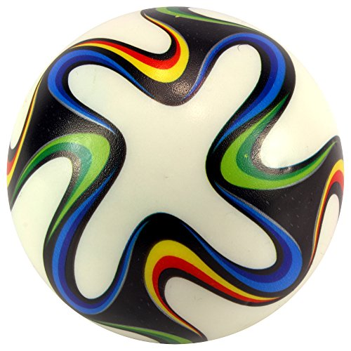 "3.5"" World Championship Soccer Brazil Squeeze Foam Toy Ball, Perfect for Stress Relieving, Add On for Sports Playsets (Colors May Vary) - 1"