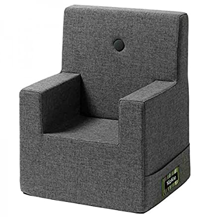 by KlipKlap Kids Chair - Bluegrey With Grey Button