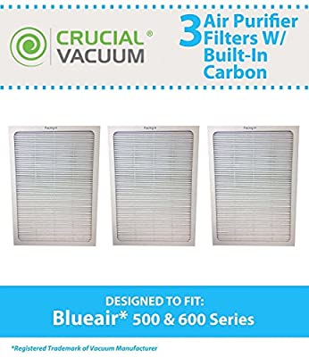 3 Air Purifier Filter For BlueAir 500/600 Series Fits 501,503,550E,601,603,650E