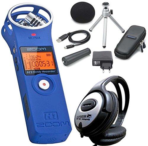 zoom-h1-bl-registratore-stereo-blu-aph1-accessori-set-cuffie-keepdrum