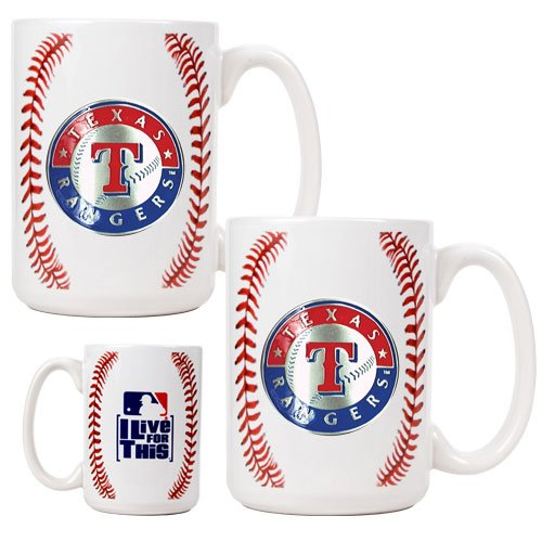MLB Texas Rangers Two Piece Ceramic Gameball Mug Set - Primary Logo at Amazon.com