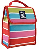 Wildkin Horses in Pink Munch 'n Lunch Bag,One Size,Bright Stripes