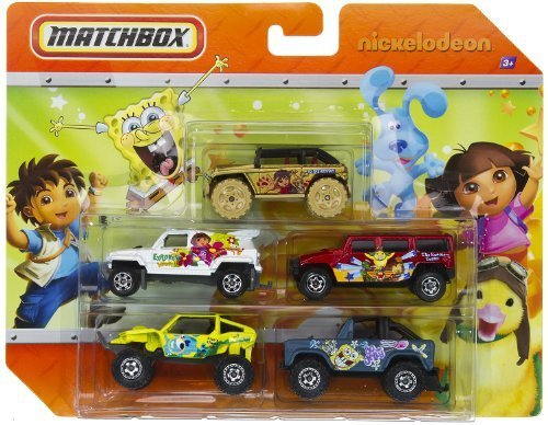 Matchbox Nickelodeon - Dora, Blue'S Clues, Wonder Pets, Diego And Sponge Bob 5 Pack Cars front-612544