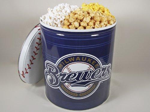 Milwaukee Brewers 3 Way Popcorn Gift Tin
