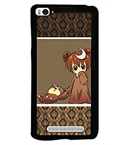 PRINTSWAG SWEET GIRL WITH TEDDY Designer Back Cover Case for XIAOMI MI4I
