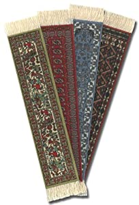 "Lextra® (Oriental Assortment) BookRug®, assorted colors, 7"" x 1.25"", set of four"