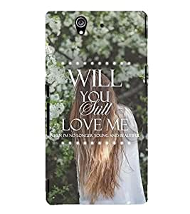 Printvisa Lonely Girl Love Quote Back Case Cover for Sony Xperia Z::Sony Xperia Z L36h