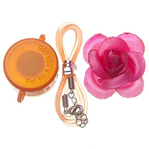 Capstyle Bottle Cap Necklace, Magnet and Jewelry for Decoration - Orange Capstyle and Pink Flower Starter Set Elegance I