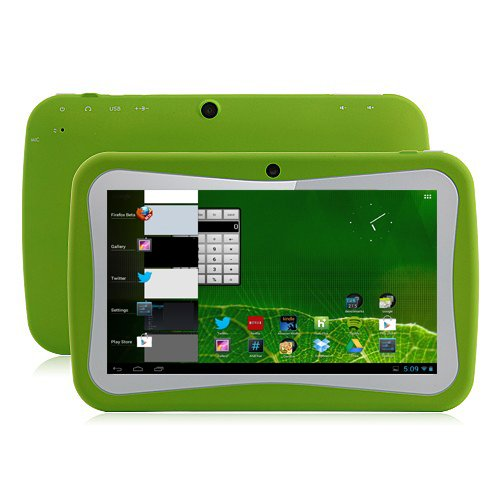 Klastor Green Rugged Boys Kids Android 4.1 Tablet PC 8gb WiFi - SKYPE