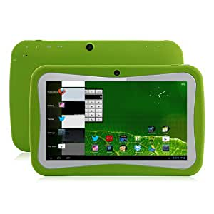 Klastor NEW Green Rugged Boys Kids Android 4.1 Tablet PC 8gb WiFi - SKYPE - DUAL Camera -1024 x 600 Capacitive Touchscreen - ideal christmas or birthday gift with Kid Market and parental Controls - Google Play store can be password protected (Green)