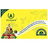 TEASAGE Apple Cinnamon Green Tea - Box Of 10 Pyramid Shaped Tea Bags