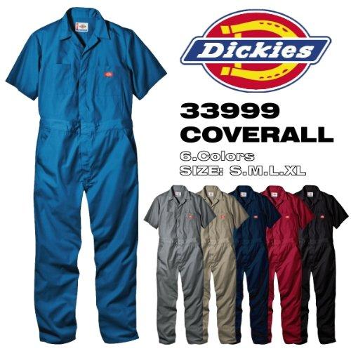 【アウトレット】ディッキーズ 半袖 カバーオール つなぎ SHORT SLEEVE COVERALLS 「33999」 色:BLUE サイズ:XL