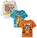 Disney Boys Lion Guard 3 Pack T-Shirts, Beige, 2T