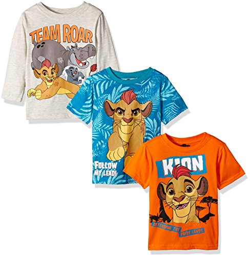 Disney Boys' Lion Guard 3 Pack T-Shirts, Beige, 4T