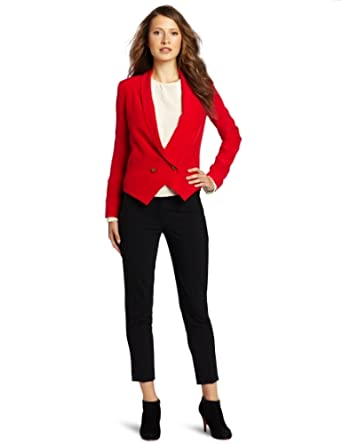 Twelfth St. by Cynthia Vincent Women's Shawl Collar Blazer, Red, 2