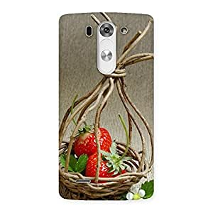 Delighted Straberry Basket Multicolor Back Case Cover for LG G3 Beat