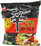 Nongshim Shin Ramyun Black Noodle Soup, 4.58 Ounce Packages (Pack of 18)