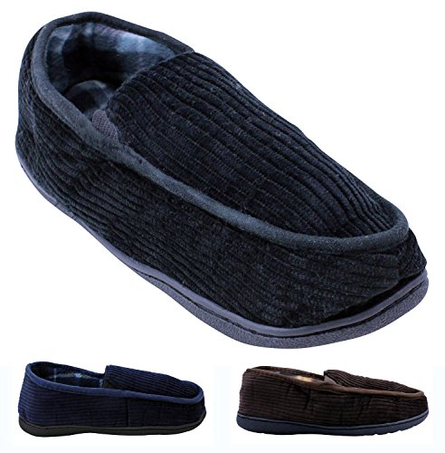 Enimay Men's Slippers Indoor Loafers Soft House Shoes Warm Fluffy Soft Cozy