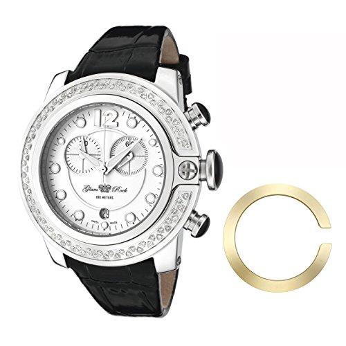 Glam Rock - 0.96.2309 - Montre Mixte - Quartz Analogique - Bracelet Cuir Noir