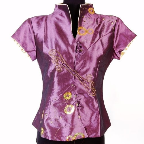 Womens Diamantes Top Shirt Blouse Purple Available Sizes: 0, 2, 4, 6, 8, 10, 12