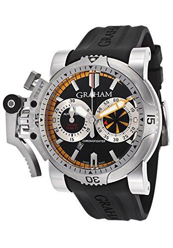 Graham Men's Chronofighter Oversize Diver Turbo Automatic Chrono Black Dial