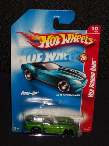 Hot Wheels 2008 86 Green Pony Up Web Trading Cars Series Pony-Up 2008 086