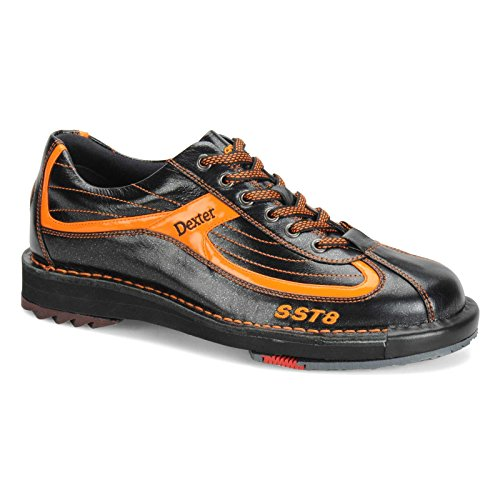 Dexter Mens SST 8 LE Black/Orange Bowling Shoes