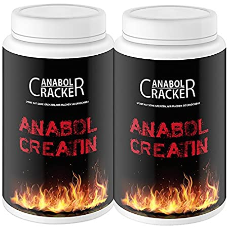 2X Anabol Creatin, 500g Kreatin Monohydrat Pulver, reinstes Kreatin / Pur mit Taurin