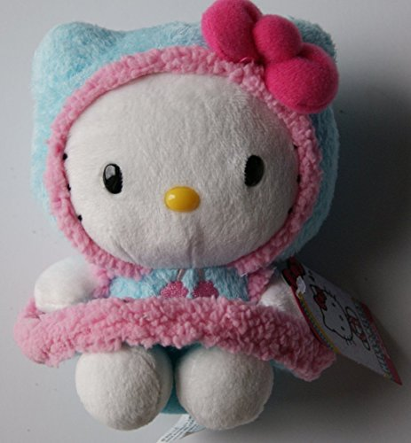 "Hello Kitty Mini Plush Doll in Fluffy Winter Coat - 6"" - 1"