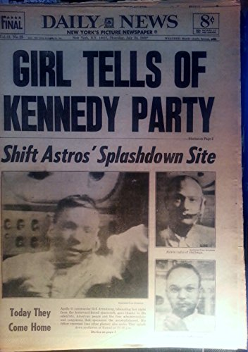 """7/24/1969 Ny Daily News """"Girl Tells Of Kennedy Party""""-Chappaquiddick"""