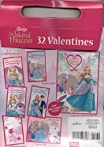 Barbie The Island Princess 32 Valentines with Free Poster