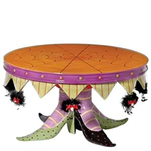 Department 56 Krinkles Witch Shoe Cake Plate