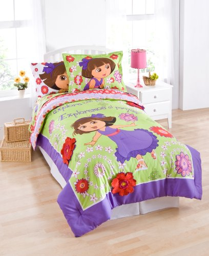 "Nickelodeon Dora The Explorer ""Picnic"" Comforter With Sham, Twin front-391092"