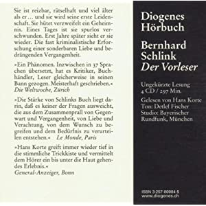 Der Vorleser (Diogenes Hörbuch)