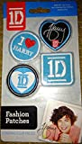 1D One Direction Fashion Patches Autographed - Iron On Harry 4pc